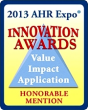 Innovation Awards Honorable Mention at the 2013 AHR Expo
